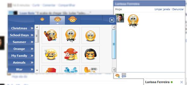 Emoticon no chat do Facebook (Foto: Reprodução/TechTudo)