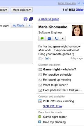 Widget do Gmail (Foto: Reprodução)