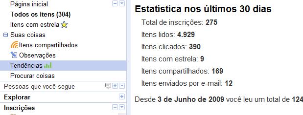 Utilize as estatísticas da seção Tendências para manter seus feeds atualizados (Foto: Reprodução)