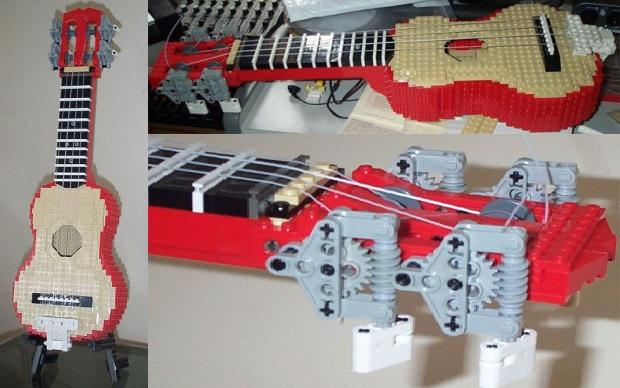 ukelele feito de LEGO. (Foto: Divulgação)