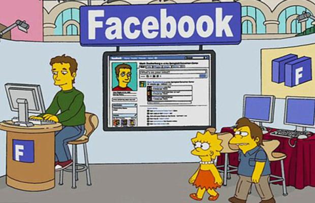 Facebook apareceu nos Simpsons e agora os Simpsons aparecerão no Facebook (Foto: Reprodução)
