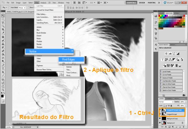 Filtro Find Edges (Foto: Reprodução/Juliane Costa)