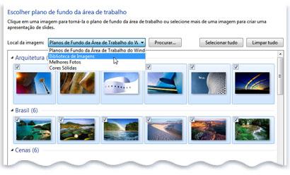 É possível ter uma apresentação de slides como plano de fundo (Foto: Divulgação)