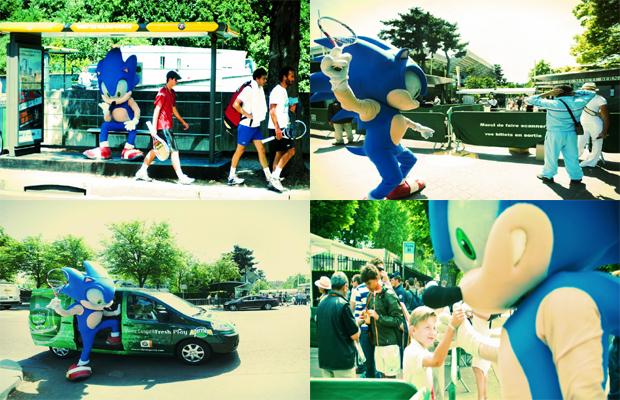 Sonic no Torneio de Roland-Garros (Foto: Wiiz)