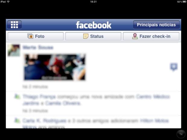 Feed de Notícias (Foto: Reprodução/Camila Porto)