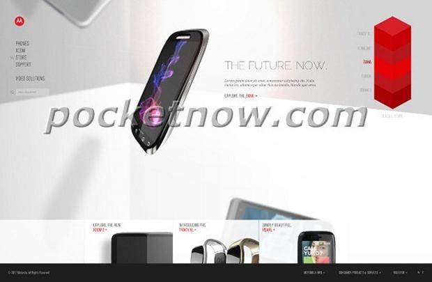 Novo site da Motorola revelou novos produtos (Foto: Reprodução/Pocketnow)