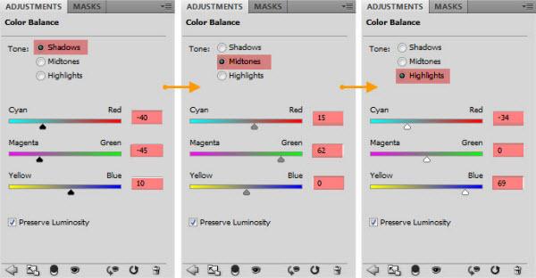 Configuração Color Balance (Foto: Reprodução)