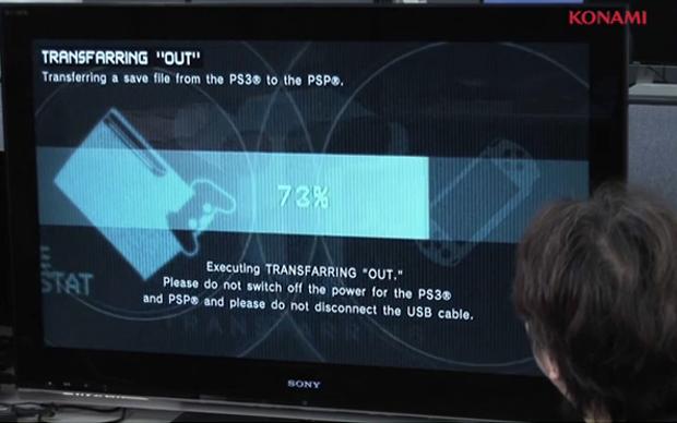 Metal Gear permite que você importe seus dados para o PS3 (Foto: Reprodução)