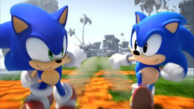 Duas gerações de Sonic lutando lado a lado, agora no 3DS (Foto: Divulgação)