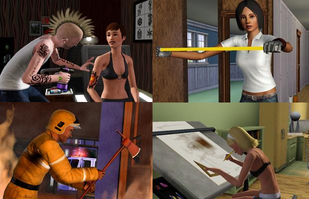 The sims 3 Ambitions: Escolha qual carreira seguir (Foto: Divulgação)