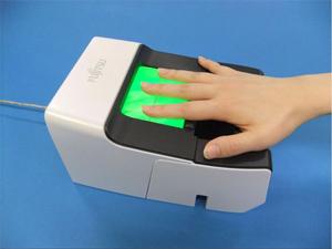 Leitor biométrico feito no Japão (Foto: Divulgação)