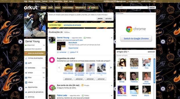 Tema Novo Rock para Orkut (Foto: Divulgação)