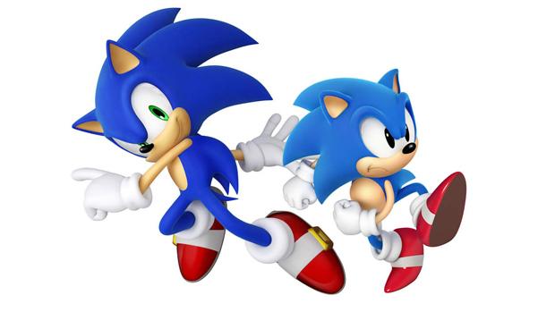 Dois Sonics se encontram em Sonic Generations  (Foto: Divulgação)