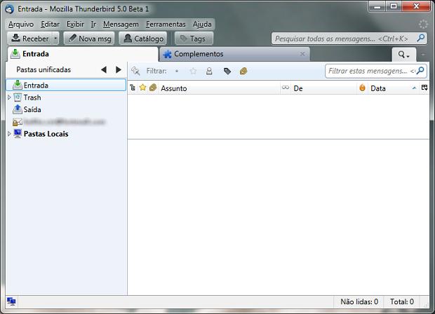 Mozilla Thunderbird 5 beta 1 (Foto: Reprodução)