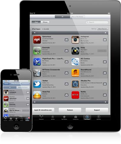 Lista de aplicativos comprados (Foto: Divulgação)