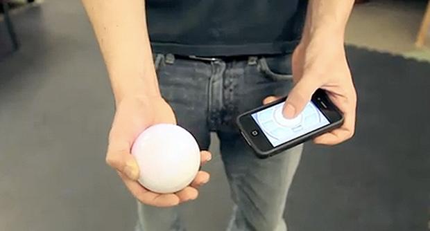 Controlar bola através de iPhone ou Android