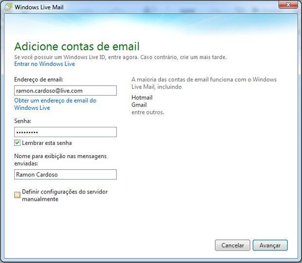 Windows Live Mail (Foto: Reprodução/TechTudo)