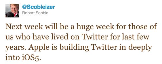 O rumor partiu de Robert Scoble. (Foto: Reprodução/ Twitter)