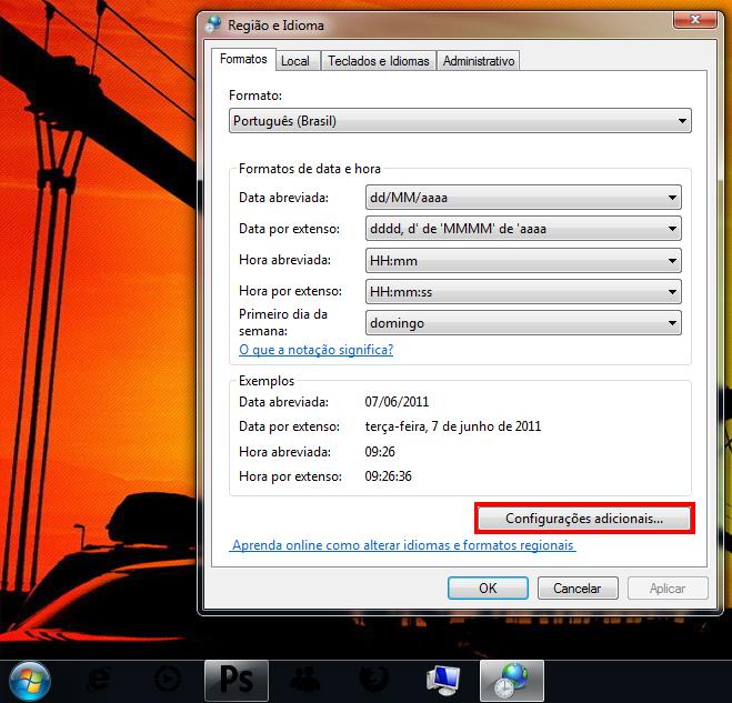 Alterando o formato da data (Foto: Reprodução/TechTudo)
