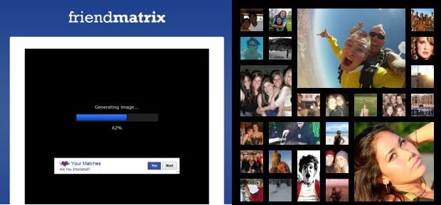 Colagem de fotos sendo gerada / Colagem de fotos dos contatos (Foto: Reprodução)