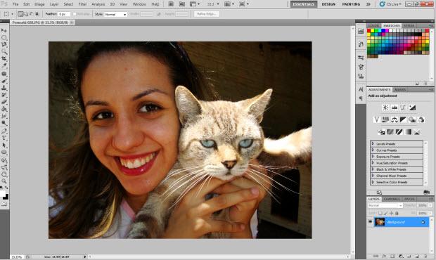 Abra a imagem no Photoshop (Foto: Reprodução/Juliane Costa)