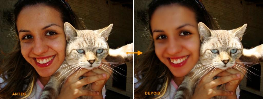 Antes e Depois  (Foto: Reprodução/Juliane Costa)