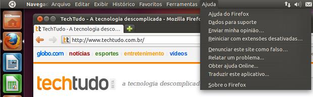 Menu do Firefox (Foto: Reprodução/Helito Bijora)