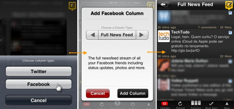 Visualize o Feed de notícias do Facebook (Foto: Reprodução)