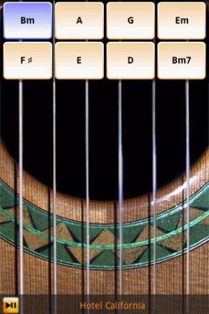 Escolhendo os acordes no violão virtual (Foto: Divulgação)