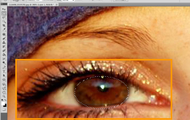 Selecionando o olho (Foto: Reprodução)