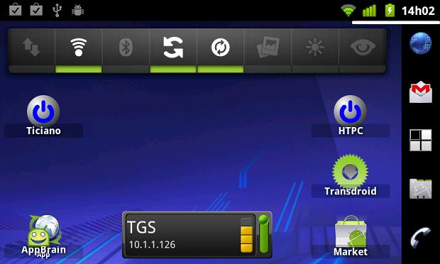 Widget do WOLShortcut na área de trabalho do Android (Foto: Reprodução)