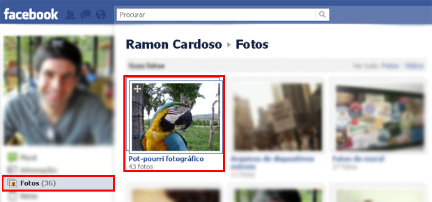 Adicionando fotos a um álbm já existente do Facebook (Foto: Reprodução/TechTudo)