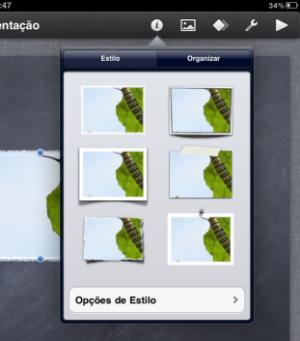 Opções de personalização de imagens e textos (Foto: Reprodução/Camila Porto)