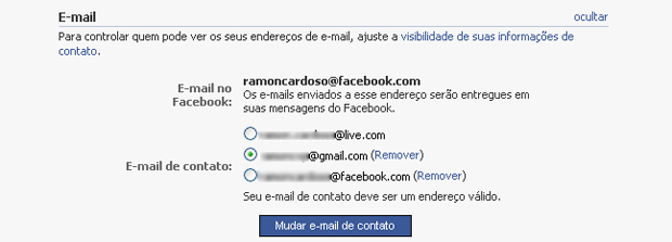 Alterando o e-mail de login do Facebook (Foto: Reprodução/TechTudo)