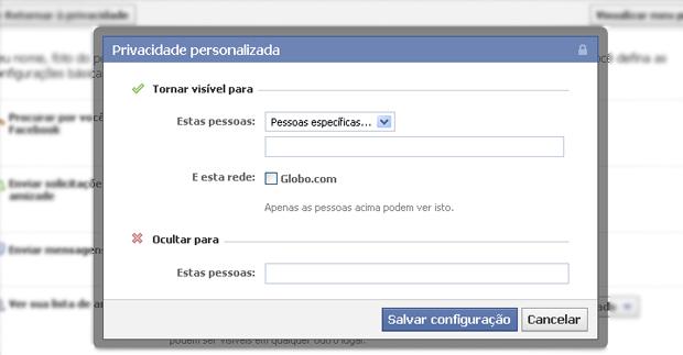 Configuações de privacidade do Facebook (Foto: Reprodução/TechTudo)