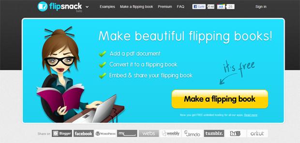 Flipsnack (Foto: Reprodução)