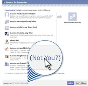 Integração Facebook - Minor Monitor (Foto: Divulgação)