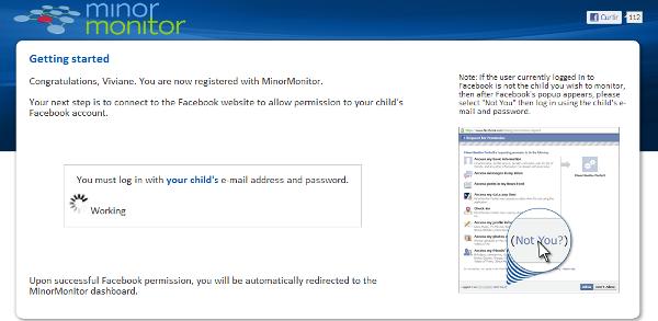 Acesso ao Facebook - Minor Monitor (Foto: Divulgação)