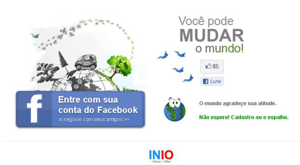 Acesse com seus dados do Facebook (Foto: Reprodução/Camila Porto)
