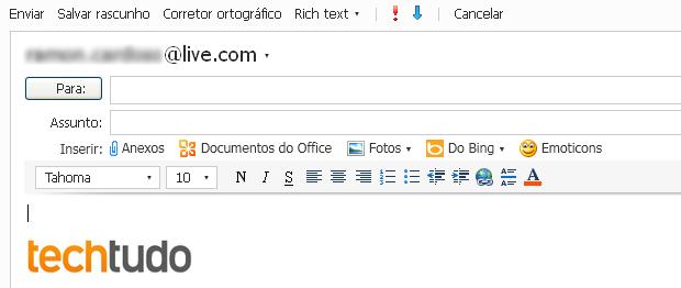 Mensagem de e-mail com assinatura pessoal (Foto: Reprodução/TechTudo)