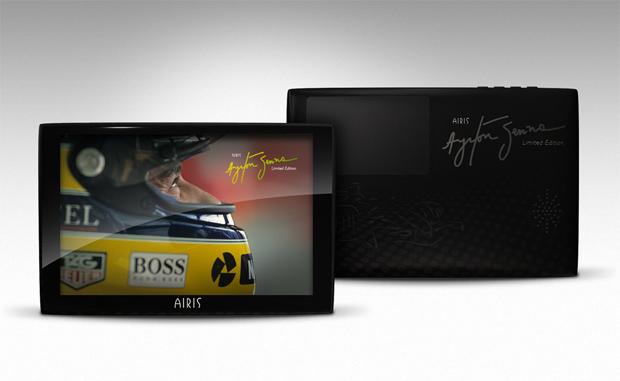 GPS em homenagem ao Ayrton Senna (Foto: Divulgação)