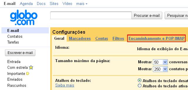Encaminhando mensagens do Gmail para outras contas (Foto: Reprodução/TechTudo)
