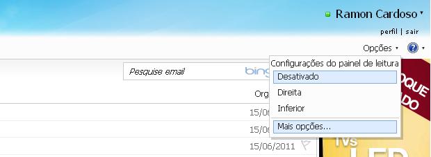 Assinatura pessoal no Hotmail (Foto: Reprodução/TechTudo)