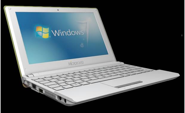 Netbook Microboard Windows 7 (Foto: Divulgação)
