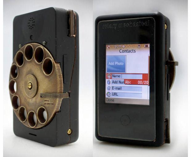 Celular com disco mecânico (Foto: Reprodução)