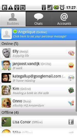 Lista de contatos online (Foto: Divulgação)