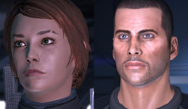 Shepard na versão feminina e masculina de Mass Effect  (Foto: Divulgação)