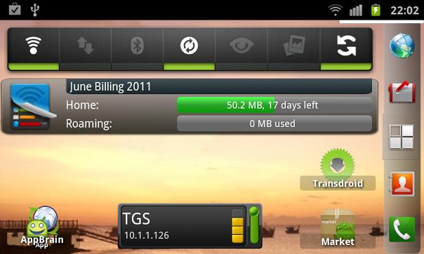 Widget exibe o uso mensal do plano de dados. (Foto: Divulgação)