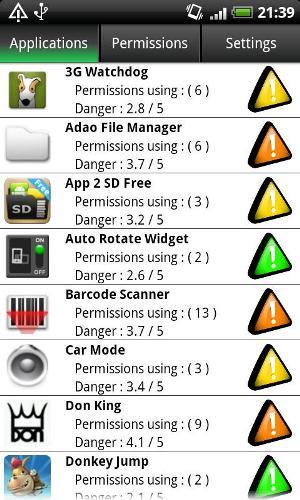 Lista de aplicativos classificados como ameaça (Foto: Divulgação)