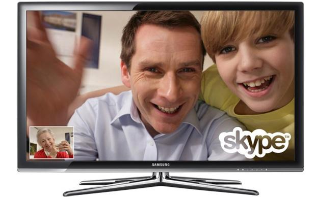Vídeo chamada pela TV (Foto: Divulgação)